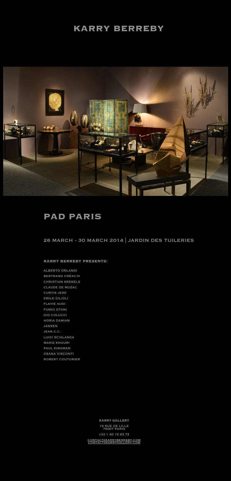 Newsletter PAD PARIS 2014